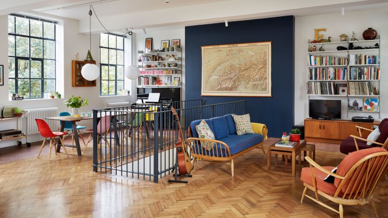 Real home: an open-plan home is created from a converted school .