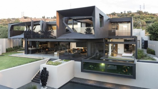 Sculptural Family Home With Minimalist Interiors - DigsDi