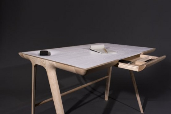 Sculptural Maya Desk With Secret Storage Units - DigsDi