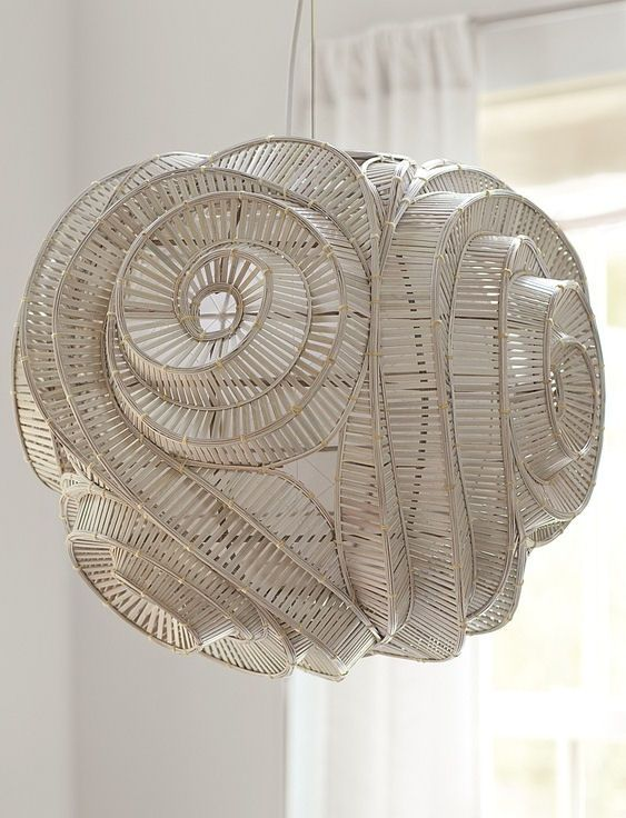 unique spiral pendant lamp...so wonderfully sculptural... (With .