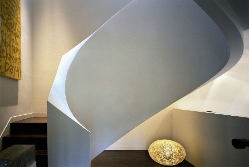 Sculptural spiral staircase with white, … – Buy image – 11019548 .