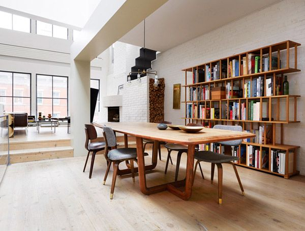 Modern Manhattan Loft | Home, Scandinavian loft, White brick wal