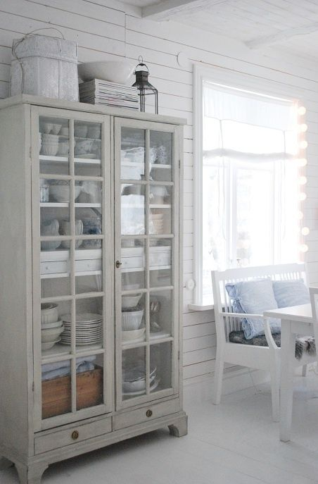 39 Shabby Chic Whitewashed Storage Pieces (With images)   Dining .