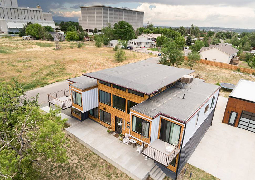 colorado firefighter assembles nine shipping containers into a .