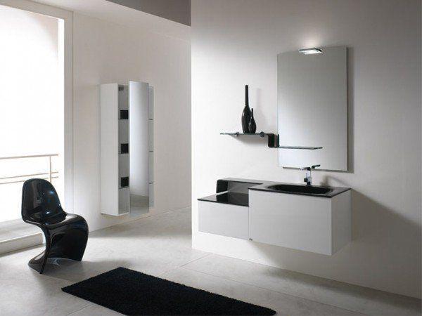 30 Elegant Black & White Colored Bathroom Design Ideas   Modern .