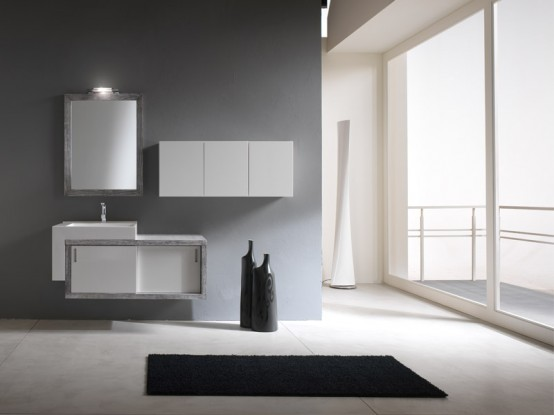 Simple And Modern Bathroom Cabinets - Piquadro 2 by BMT - DigsDi