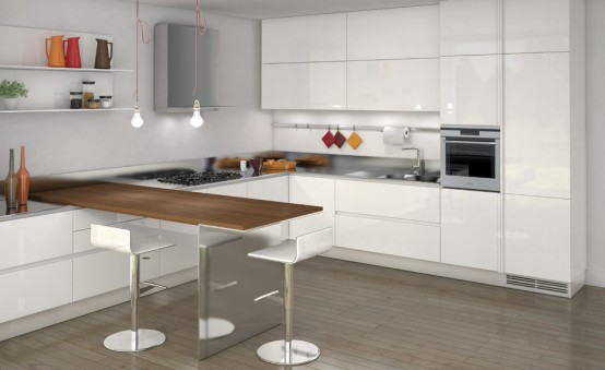 Simple and Sleek Kitchen Design - Emetrica by Ernestomeda - DigsDi