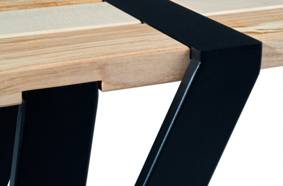 Simple Dining Table And Bench By Manuel Welsky - DigsDi