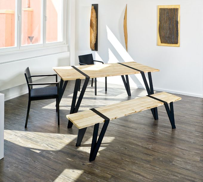 Simple Dining Table And Bench By Manuel Welsky | DigsDigs .