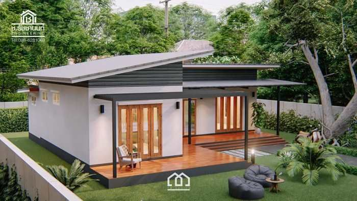 Modern, Villa-Style Single Storey House With Two Bedrooms - Ulric .