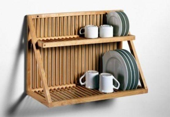 20 Small And Creative Dish Racks And Drainers   Estantes de platos .