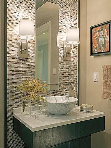 Elegant Powder Room | Powder room decor, Powder room design .