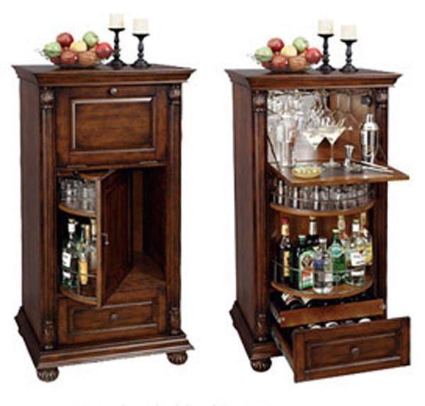Cognac Bar Cabinet | Bar cabinet, Modern home bar, Bar furnitu