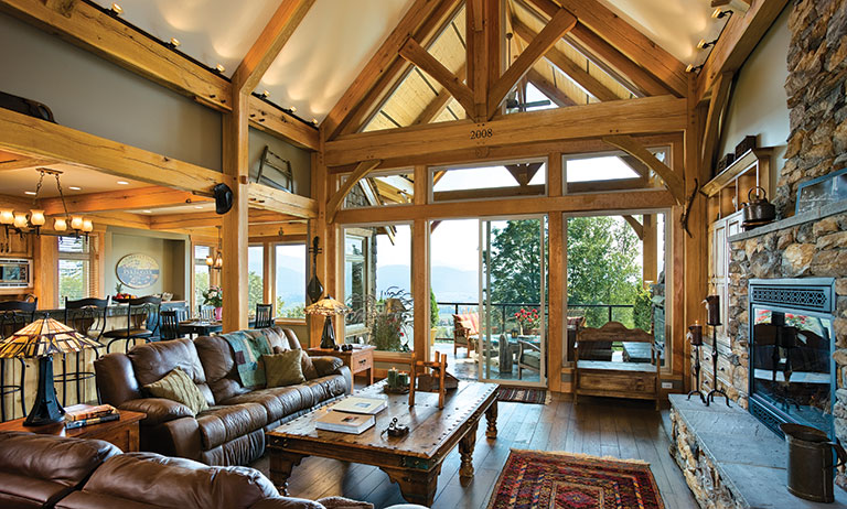 A Compact Hybrid Timber Frame Home Design + Phot