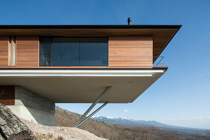 Dramatic Cantilevered House Boasts Magnificent Mountain Views in .