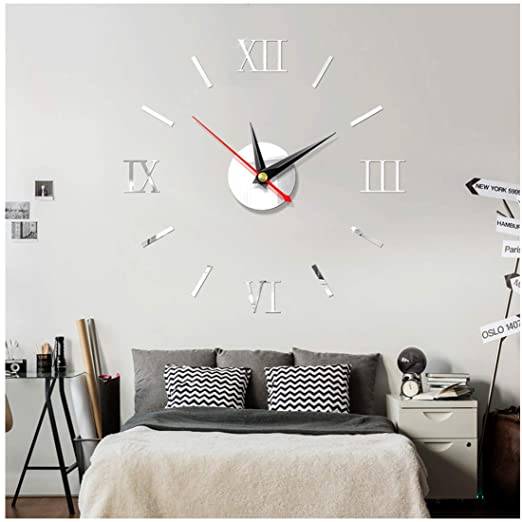 Amazon.com: air-SMART Modern DIY Self Adhesive Interior Wall Clock .