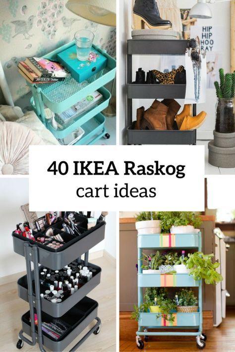 40 Smart Ways To Use IKEA Raskog Cart For Home Storage | Ikea .