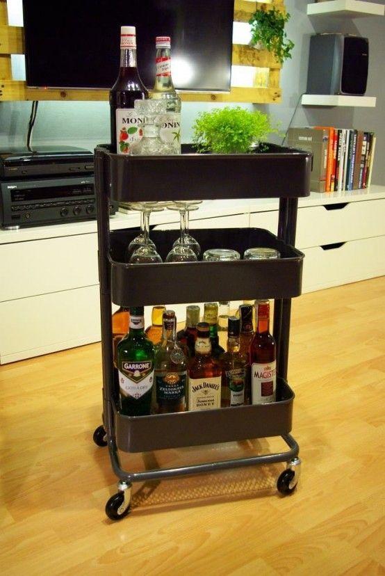 40 Smart Ways To Use IKEA Raskog Cart For Home Storage - DigsDigs .