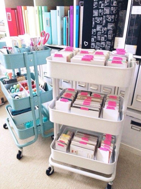 60 Smart Ways To Use IKEA Raskog Cart For Home Storage | Craft .