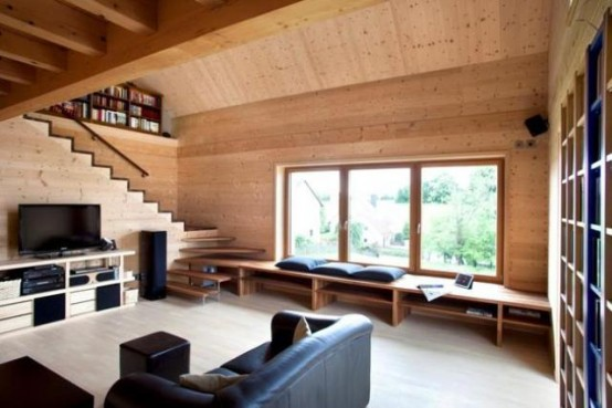 Smart Wooden House Built With Beech Wood Plugs - DigsDi
