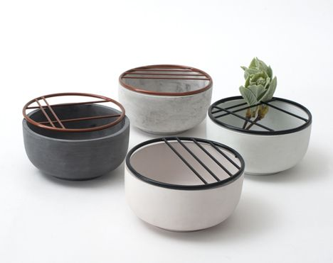 These tiny cups by German designer Hanna Kruse are topped with .