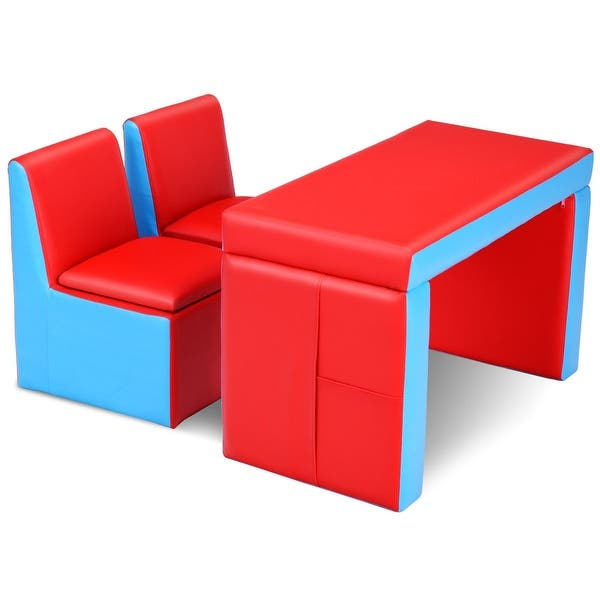 Shop Multi-functional Kids Sofa Table Chair Set - On Sale .