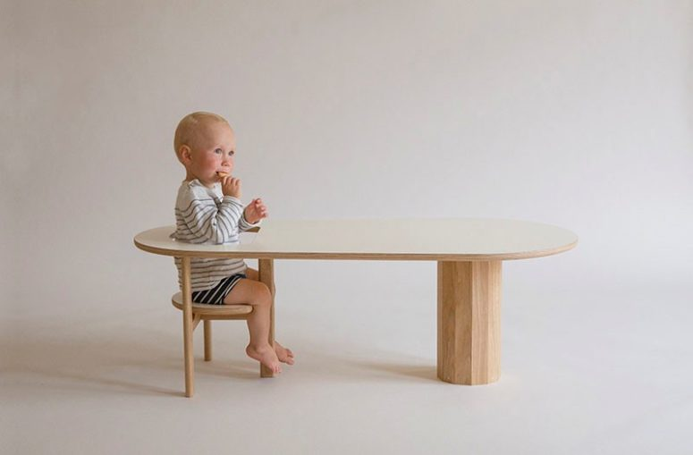 Boida Sofa Table To Seat Your Kid Well Within Arm's Reach - DigsDi