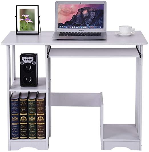 Amazon.com: Wearefo Writing Desk Laptop Desk Computer Table Office .