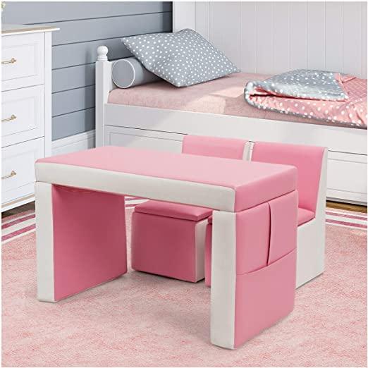 Amazon.com: Sofa, Multi-Functional Kids Sofa Table Chair Set, Pink .