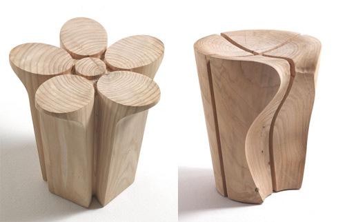 Solid Wood Stools by Karim Rashid for Riva1920 | Ingenious Lo