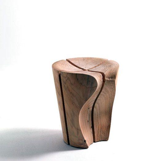 Delta stool by Karim Rashid | Live edge wood furniture, Stool .
