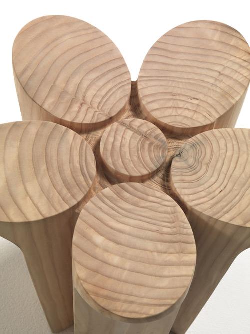 Solid Wood Stools by Karim Rashid for Riva19