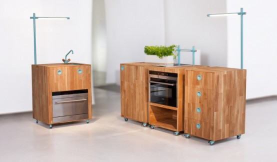 Design Inspiration Pictures: Space Saving and Eco-Friendly Kitchen .