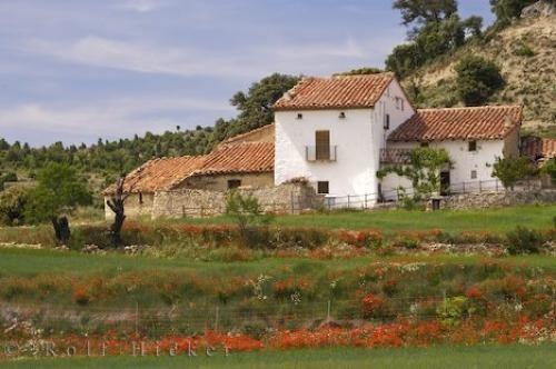 Spanish Farmhouse Morella Village Valencia Spain | Photo .