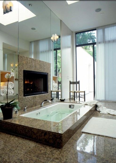 51 Spectacular Bathrooms With Fireplaces - DigsDi