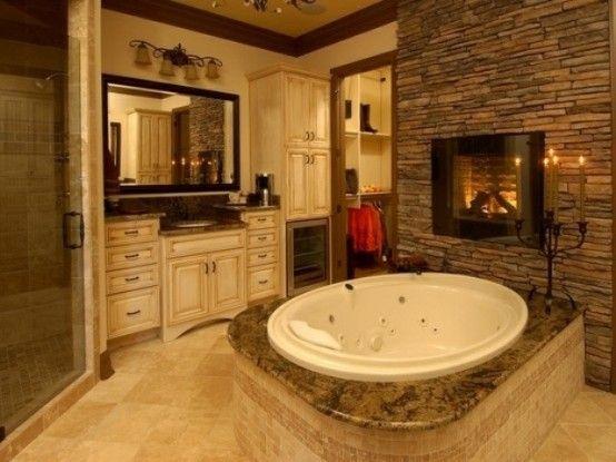 51 Spectacular Bathrooms With Fireplaces | Cozy bathroom, Bathroom .