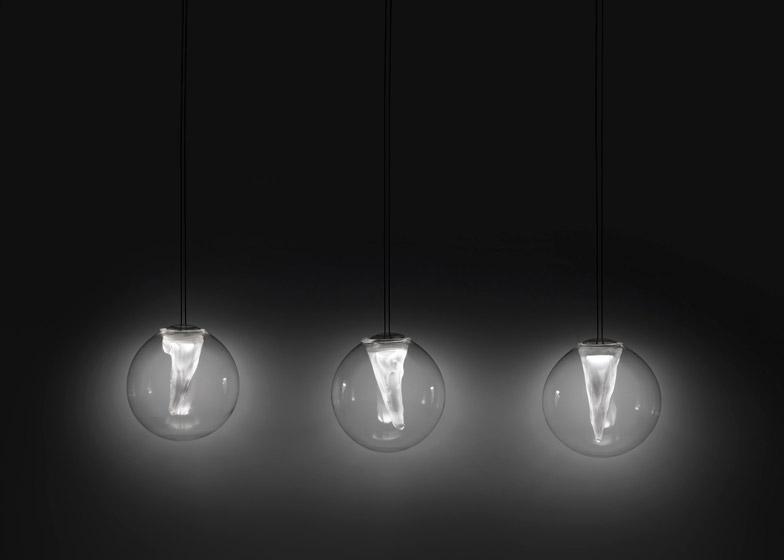 Resident adds spherical pendants to lighting ran