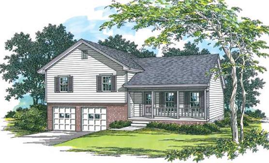 Split Level Traditional 1523 - The House Designe