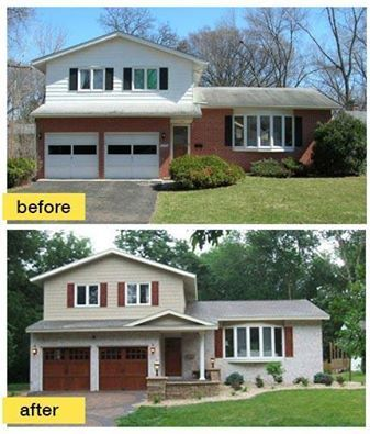 split level house awnings - Google Search   Home exterior makeover .
