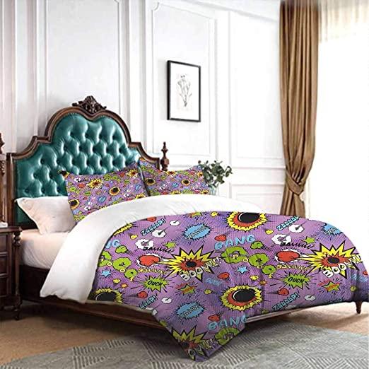 Amazon.com: dsdsgog Three-Piece Bed Sheet Set Superhero,Comic .