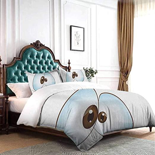 Amazon.com: dsdsgog Bed Sheets Set Eye,Funny Innocent Eyes .