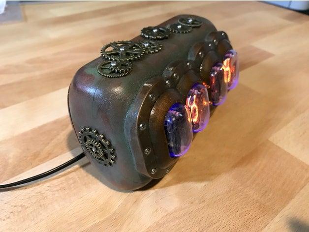 Steampunk Nixie Tube Clock by fastkite - Thingiver