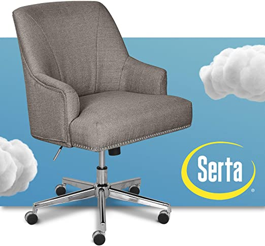 Amazon.com: Serta Leighton Home Office Memory Foam, Height .