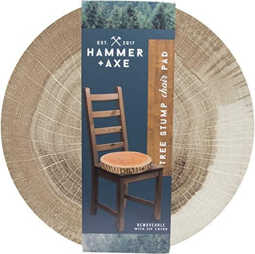 Amazon.com: Hammer + Axe Tree Stump Chair Pad, Large Comfortable .