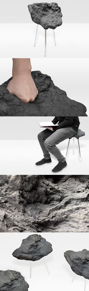 Stone Foam Stool by Matthijs Kok, a stool with a hard look, which .