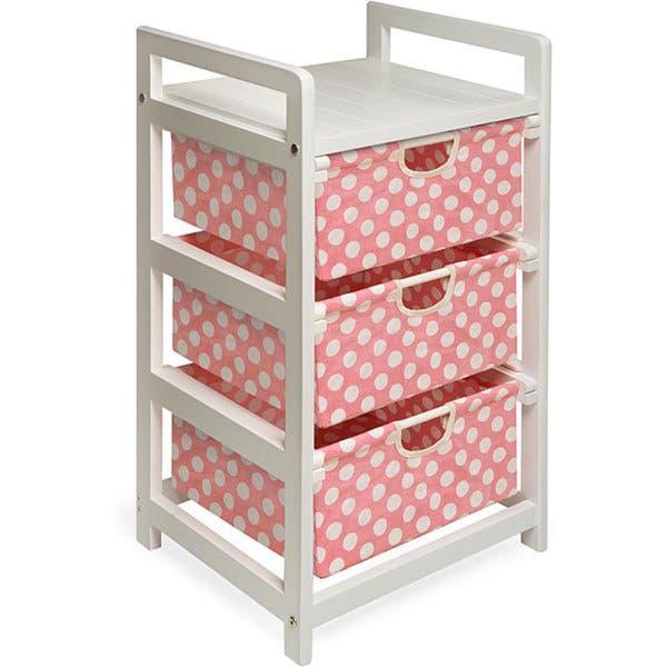 Shop Pink Dot 3-Drawer Fabric/Wood/Metal Hamper and Storage Unit .