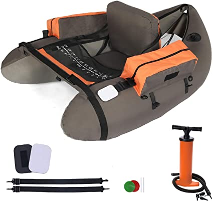 Amazon.com : LAZZO Inflatable Fishing Float Tube with Hand Air .