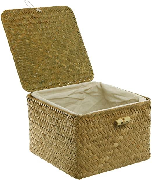 Amazon.com - MyGift Brown Hand Woven Rattan Home Storage Basket .