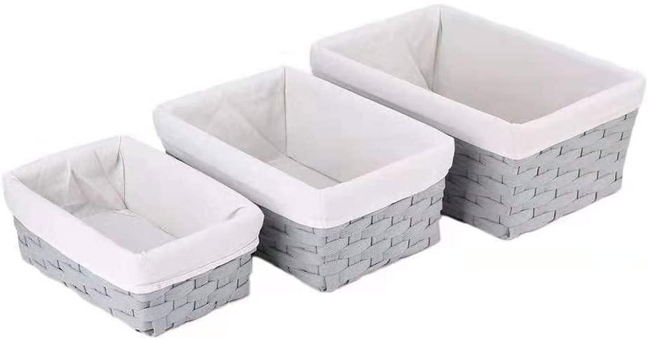 Amazon.com - HOSROOME Handmade Bathroom Storage Baskets Set Shelf .