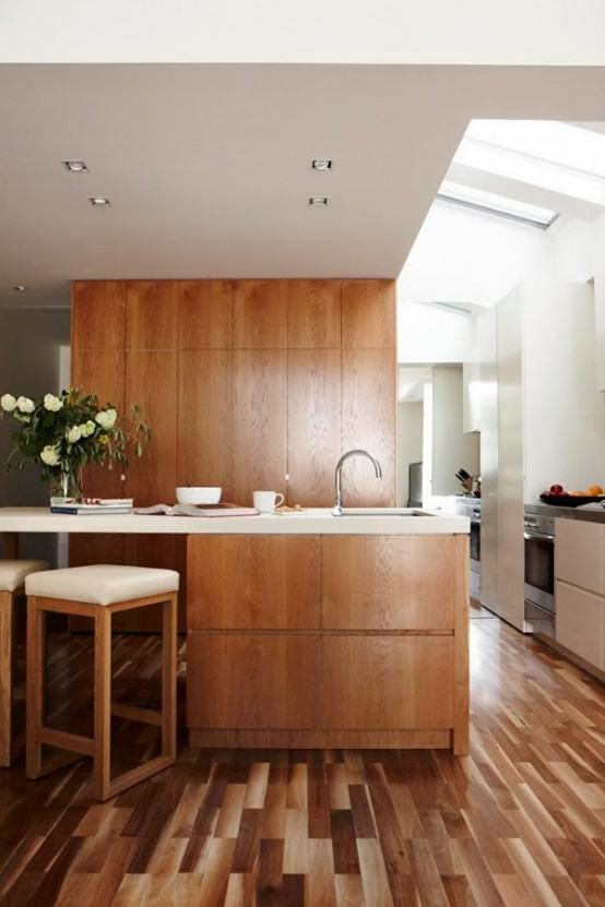 Stunning Modern Kitchen With No Windows But Full Of Light - DigsDi